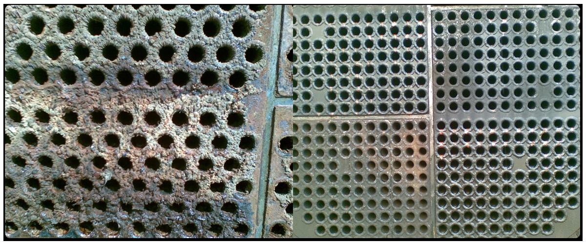 Kőolajipari kondenzátor, vízoldal vegyszeres vízkőmentesítése